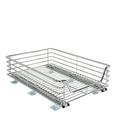Household Essentials Extra-Deep Sliding Cabinet Organizer, Chrome, 14-1/2-Inch (Cabinet Cookware Organizers compare prices)