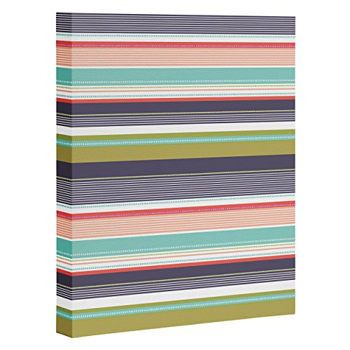 "DENY Designs Wendy Kendall Multi Stripe Art Canvas, 24"" x 30"""