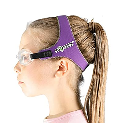 PAINLESS Swimming Goggles for Kids - Stop torturing your kids with painful rubber straps that pull hair - Frogglez® Swimming Goggles are hassle free