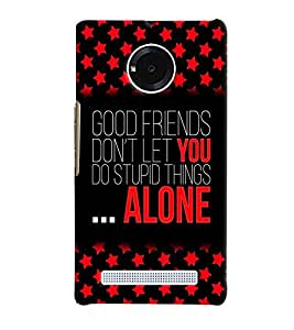 PrintVisa YUNIQ-Quotes & Messages Friend Plastic Back Cover (Multicolor)