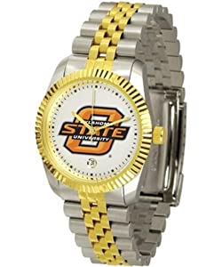 Oklahoma State Cowboys Suntime Mens Executive Watch - NCAA College Athletics by Sun Time/Links Warner