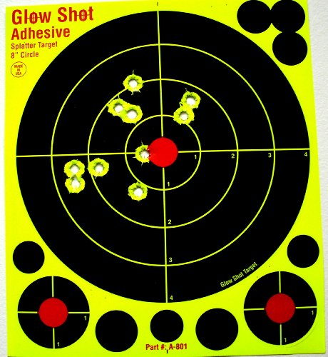 8-adhesive-splatter-targets-glowshot-25-75-packs-dayglo-see-your-hits-instantly-gun-and-airsoft-targ