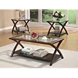 Coaster Home Furnishings 701527 3-Piece Transitional Living Room Set, Cappuccino