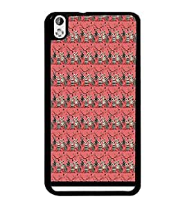 PrintDhaba Pattern D-1553 Back Case Cover for HTC DESIRE 816 (Multi-Coloured)
