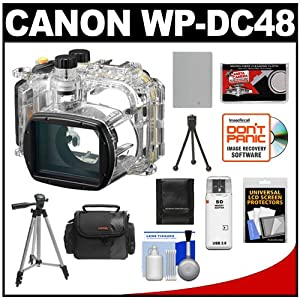 Canon WP-DC48 Waterproof Underwater Housing Case for PowerShot G15 Digital Camera with Battery + Case + Tripods + Accessory Kit
