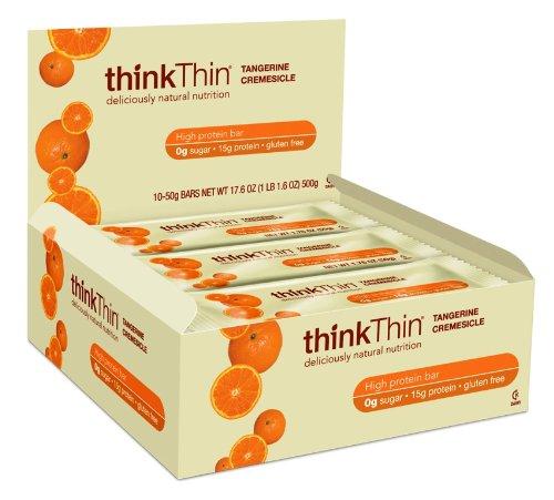 thinkThin Protein Bar, Tangerine Cremesicle, Gluten Free, 10 - 50 gram Bars