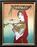 A Indian Traditional Lady Playing with Musical Instrument,