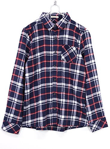 [アンドイット] and it_ マルチチェックシャツ ネイビーL