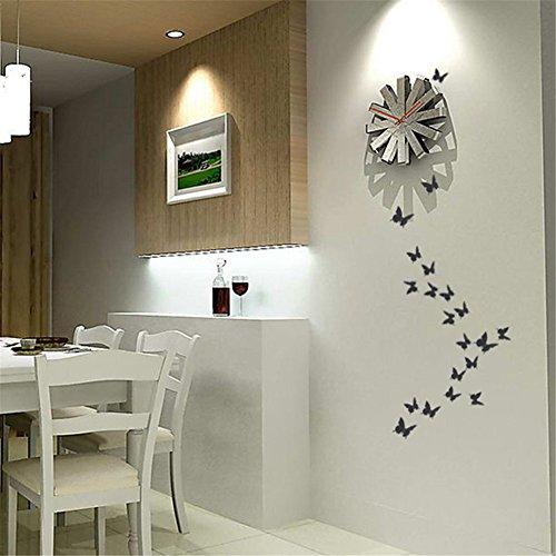 exiu 12pcs 3d papillon autocollants de mur papillons diy art chambre ornement papier. Black Bedroom Furniture Sets. Home Design Ideas