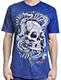 Ed Hardy Men's Tattoo Graphic Tee T-Shirt Assorted Styles, Snake Skull / Navy Mineral, Large