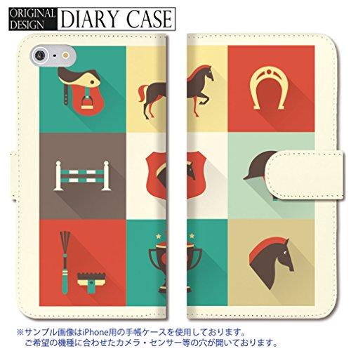 301-sanmaruichi- iPhone7 手帳型ケース iPhone7 ケース 手帳型 おしゃれ 乗馬 競馬 馬 手帳ケース