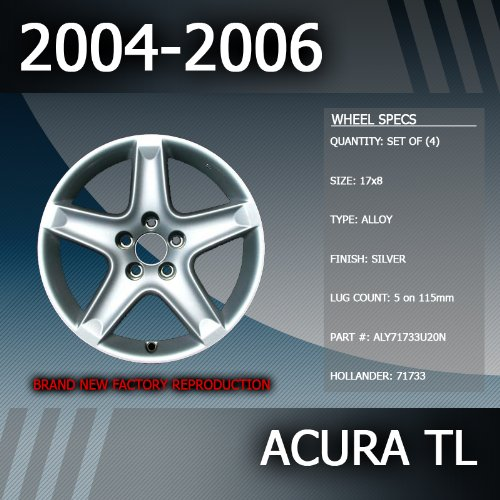 "2004-2006 Acura TL Factory 17"" Rims Wheels Set of 4"
