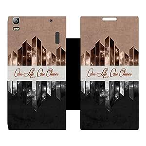 Skintice Designer Flip Cover with Vinyl wrap-around for Lenovo K3 Note, Design - life Quotes
