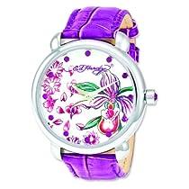 Ladies Ed Hardy Garden Purple Watch
