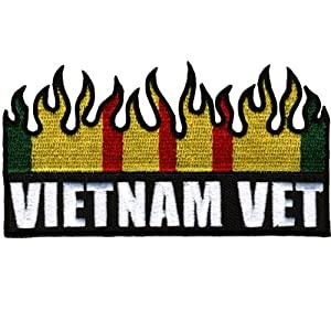 "Hot Leathers Vietnam Vet Flag Patch (4"" Width x 2"" Height)"