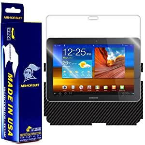 ArmorSuit MilitaryShield - Samsung Galaxy Tab 8.9 Black Carbon Fiber Film Protector Shield + Screen Protector with Lifetime Replacements