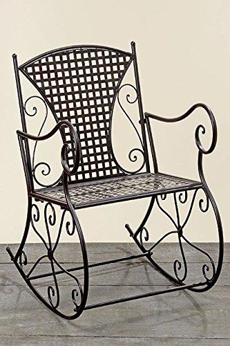 Schaukelstuhl Konya aus Metall braun Schwingsessel Metallstuhl kaufen
