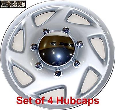"16"" set of 4 Ford Truck Van Hub caps design are UNIVERSAL wheel covers fit most 16"" rims (E150 E250 E350 E450 hubcaps)"