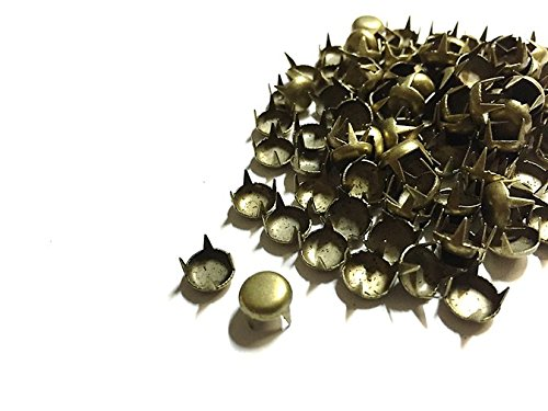 100pcs Brass 5mm Round Studs for Punk, Rock Goth Biker Fashion DIY STUD