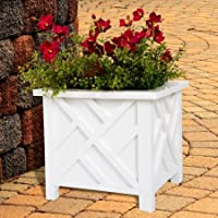 Pure Garden Box Planter (White)