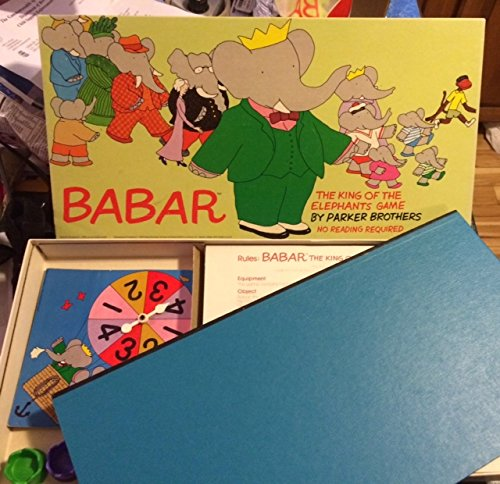 1978 Parkers Brothers BABAR BOARDGAME- COMPLETE - 1