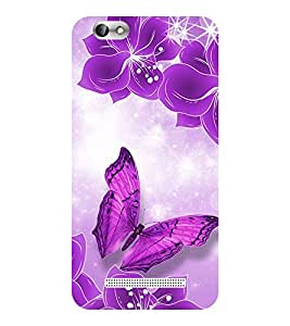 Evaluze butterfly Printed Back Cover for LENOVO A 2020