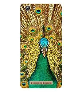 EPICCASE Breath taking peacock Mobile Back Case Cover For Gionee Marathon M5 lite (Designer Case)