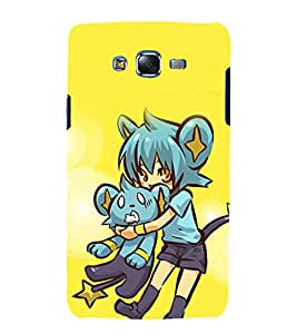printtech Girl Teddy Cute Back Case Cover for Samsung Galaxy Grand Prime G530h