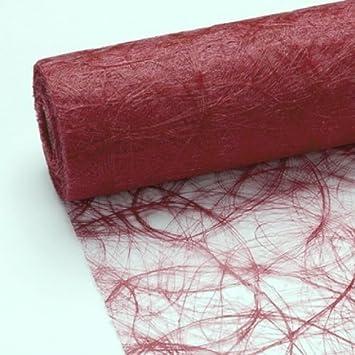 25 m x 20 cm sizoweb vlies original tischband tischl ufer bordeaux weinrot dunkelrot f r. Black Bedroom Furniture Sets. Home Design Ideas