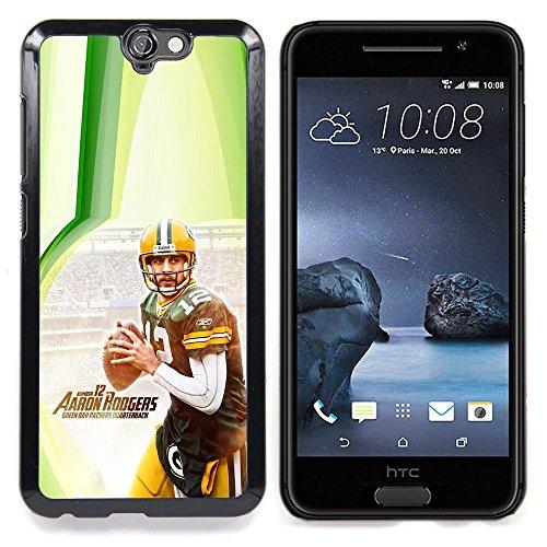 - Aaron Rodger 12 NFL - - Copertura della cassa impatto con Art Pattern Design FOR HTC ONE A9 Queen Pattern