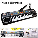 AndAlso 32 Keys Electronic Keyboard Piano With Microphone 3 Tone And 8 Rhythm For Kids Children Birthday Gifts...