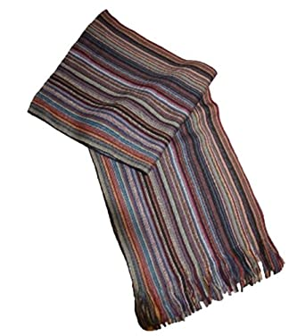 Unisex Adult Autumn Long Striped Knitted Fashion Scarf Martin
