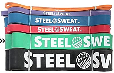 "Resistance Band by Steel Sweat - Best for Assisted Pull-Up and Workout/Exercise/Mobility/Weight lifting and Powerlifting - Top Rated Durable Pull-Up Assist Band - 41"" length"