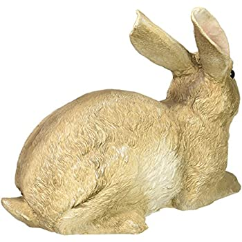Design Toscano Bashful the Bunny Lying Down Garden Rabbit Statue, Multicolored