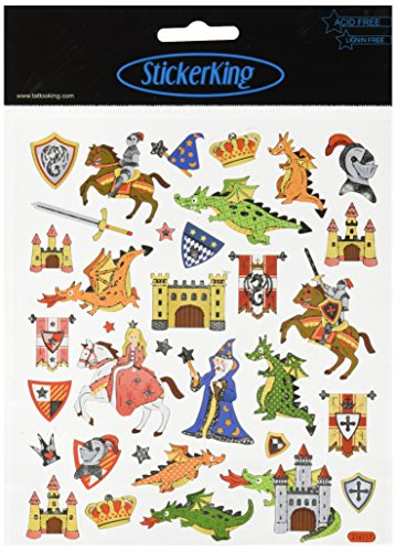 Multi-Colored Stickers-Castles and Dragons