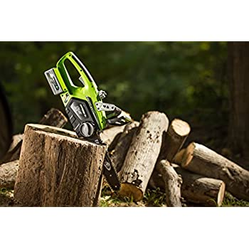 Earthwise LCS32412 12-Inch 24-Volt Lithium Ion Cordless Electric Chain Saw