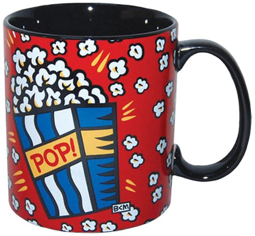 Westland Giftware 4-Inch Burton Morris Popcorn Stoneware Mug, 14-Ounce (Popcorn Mug compare prices)