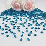 2000pcs Dark Turquoise Diamond Table Confetti Wedding Bridal Shower Party Decorations 4.5mm