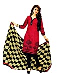 FabDesire Women's Clothing Designer Party Wear Collection Low Price Sale Printed Cotton Free Size Dress Materials
