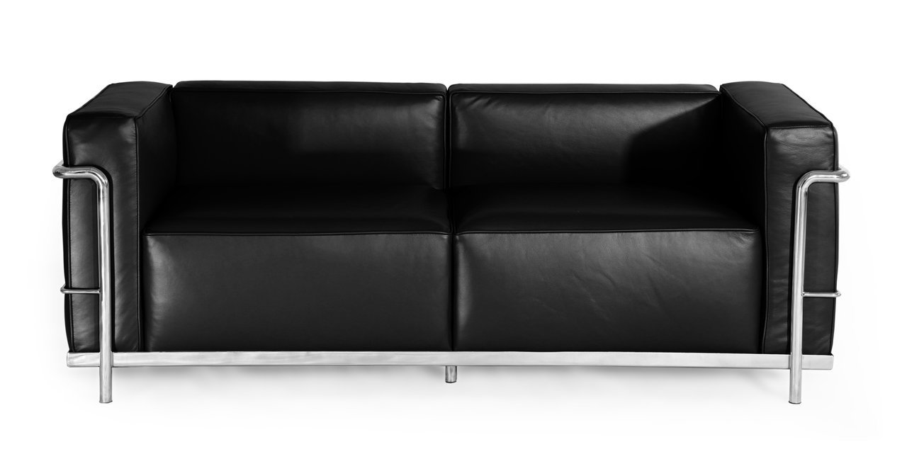 Kardiel Le Corbusier Style LC3 Loveseat - Black Aniline Leather
