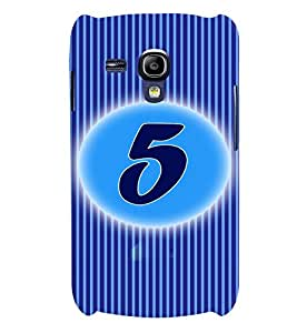 Fuson 3D Printed Numerology Designer back case cover for Samsung Galaxy S3 Mini - D4222