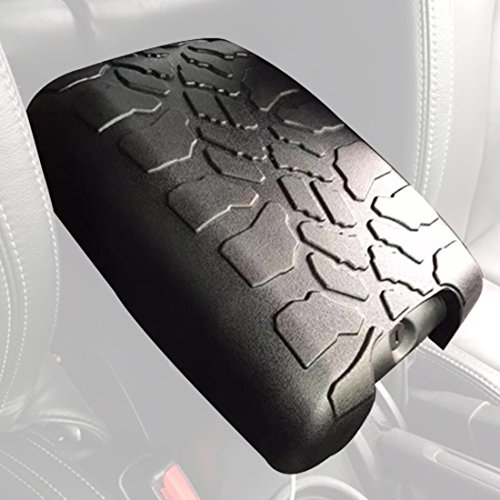 ICars Tire Tread ArmPad Rubber Center Console Armrest Cover Cushion For 2011-2016 Jeep Wrangler Unlimited JK Accessories (Xj Spare Tire compare prices)