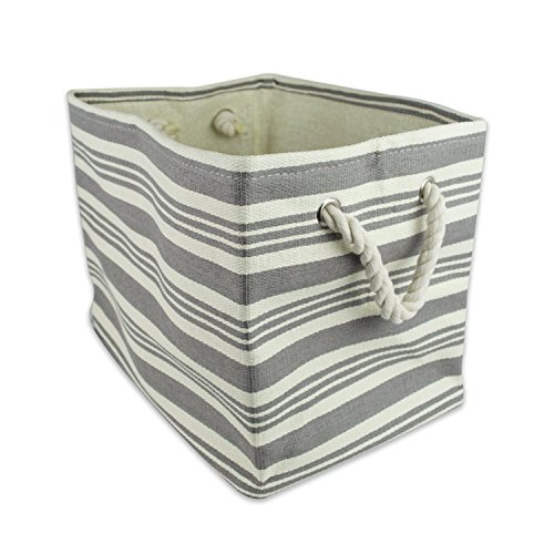 DII Woven Paper Textured Storage Basket, Collapsible & Convenient Storage Solution for Office, Bedroom, Closet, Toys, Laundry -  Large Round, Gray Urban Stripe (30lb Storage Container compare prices)