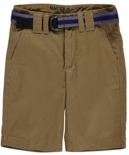 Nautica Boys 8-20 Belted Twill Short (12, British Khaki)