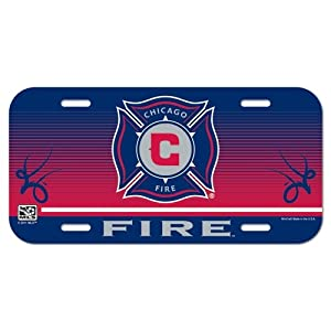 "CHICAGO FIRE OFFICIAL 12""X6"" MLS LICENSE PLATE"