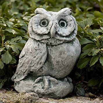 Merrie Little Owl Statue Color: Alpine Stone by Campania International