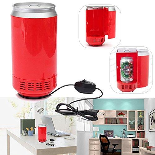 2 Pcs Mini Portable USB LED PC Refrigerator Fridge Beverage Drink Cans Cooler (Mini Fridge Keystone compare prices)