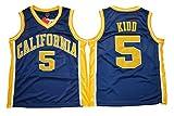 WEENKS Men's Jason Kidd 5 California Golden Bears College Basketball Jersey M Navy Blue
