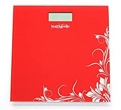Healthgenie Digital Weighing Scale HD-221, Red