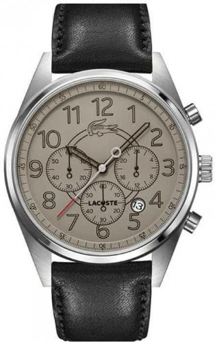 Lacoste 2010622 Black Leather Brown Dial Men's Watch